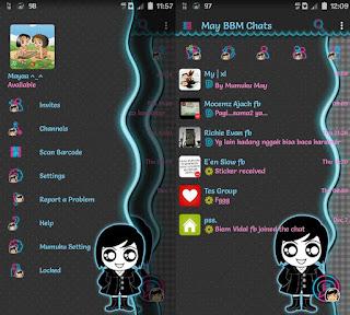 Tema BBM Terbaru Mumuku May v3.2.0.6 Update Ghotic Themes