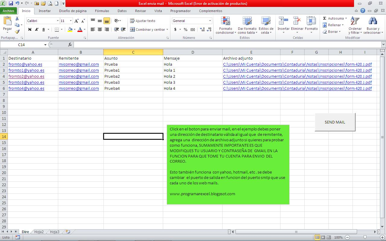 Email With Excel Vba