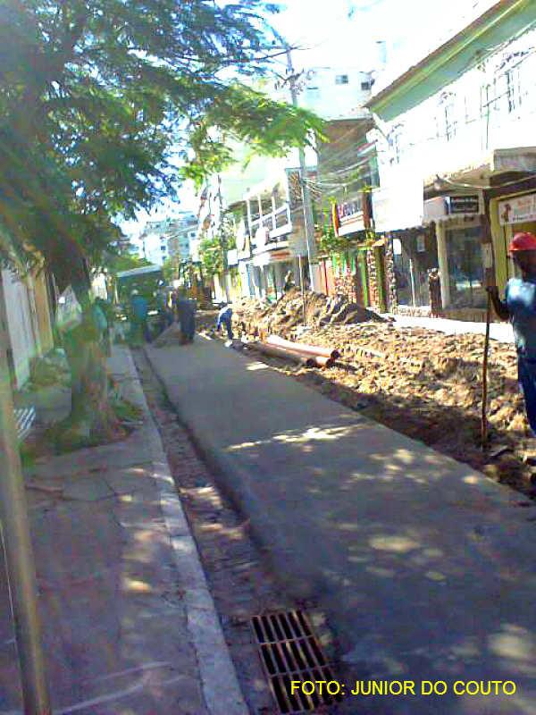 Rua Rui Barbosa, no centro de Cabo Frio, em obras.   Cabo Frio Agora ... cc0a5aca3a
