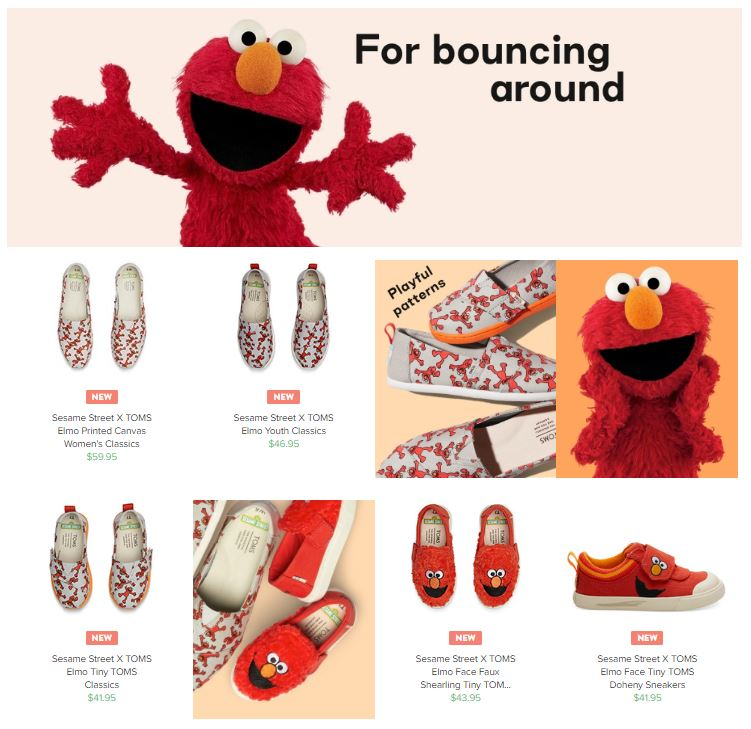 992d697b431 But their are also shoes based on Big Bird, Bert, Ernie, and Abby too! TOMS  ...