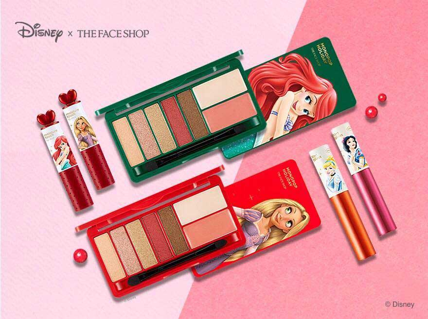 THE FACE SHOP X DISNEY PRINCESS MONO POP HOLIDAY PALETTE 9G  The Face Shop x Disney Princess Mono Pop Holiday Palette ini hanya terdiri dari 2 varian shades palette yaitu  Rapunzel dan Little Mermaid.