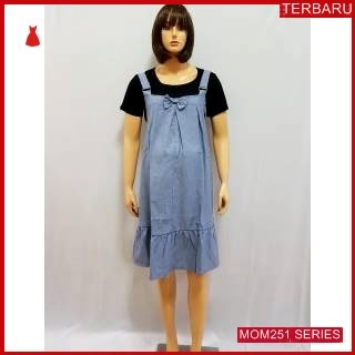 MOM251D7 Dress Hamil Menyusui Set Overall Dresshamil Ibu Hamil
