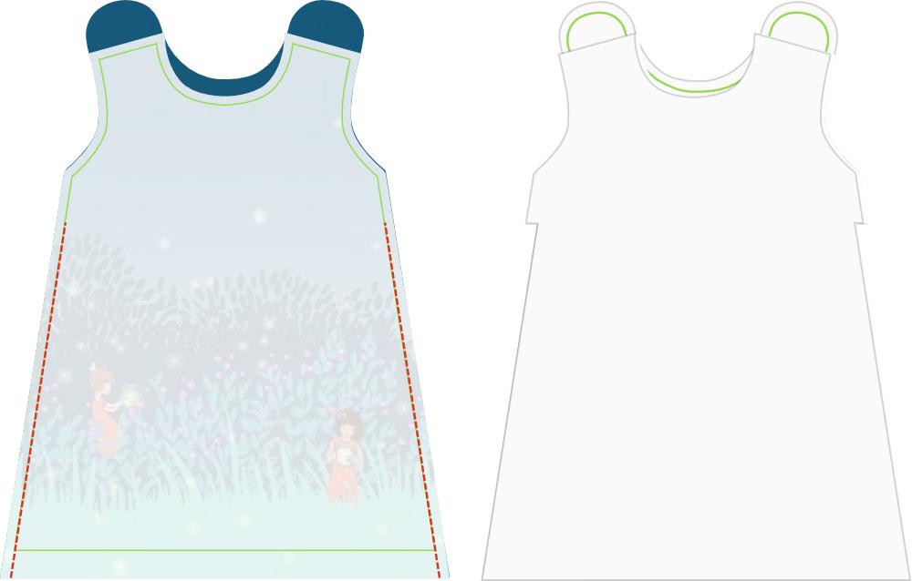 schnittmuster kleid a linie kostenlos