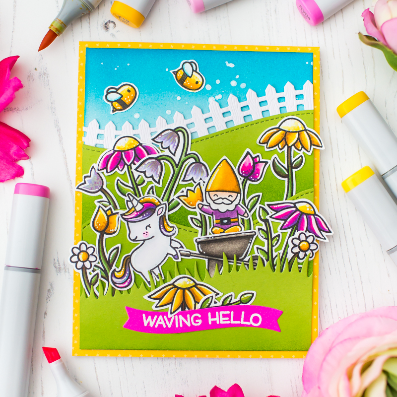 Lawn Fawn Spring Series Creative Copic Coloring Mona Toth