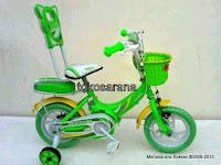 2 Sepeda Anak Erminio 1222 Sandaran 12 Inci