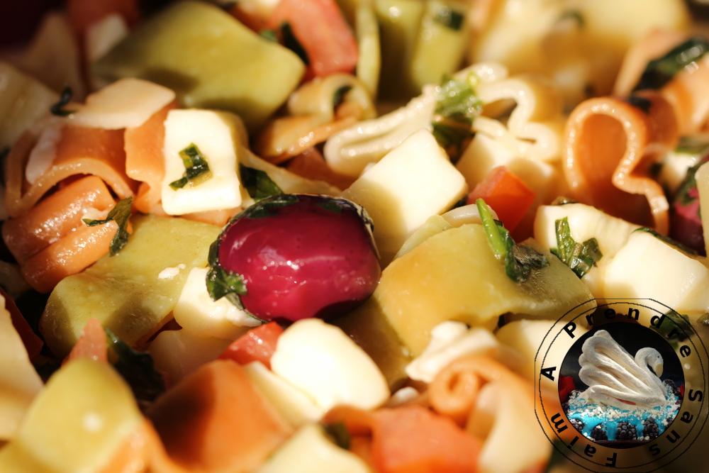 salade de p 226 tes mozzarella tomates a prendre sans faim
