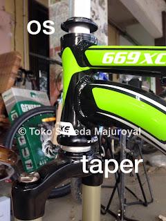 Headset Fork Taper to Frame OS Majuroyal