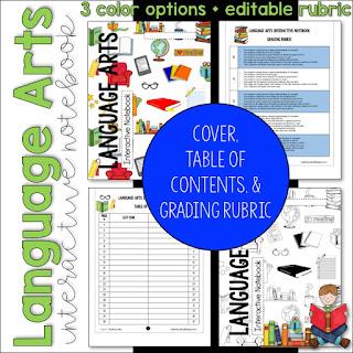 https://www.teacherspayteachers.com/Product/ELA-Language-Arts-Interactive-Notebook-Cover-Grading-Rubric-Table-of-Contents-3273329