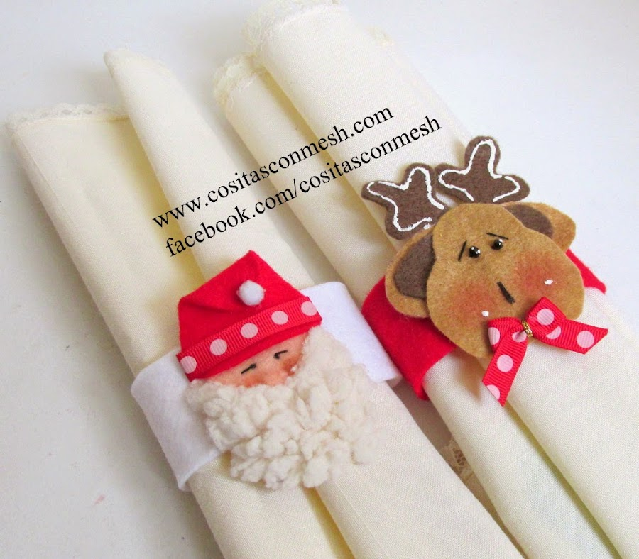 Aros navideños para servilletas de tela