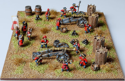 Joint 1st place: LoA fire base, by kev1964 - wins £20 Pendraken credit, and a split of a 4Ground £30 voucher!