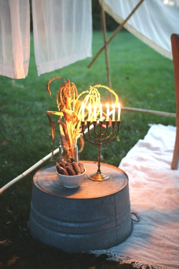 Menorah Sukkot centerpiece | Land of Honey