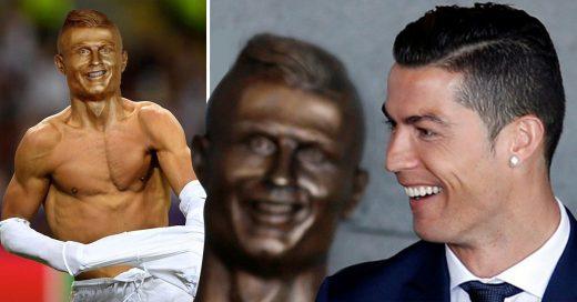 Ronaldo es homenajeado con un busto y todos se ríen de él