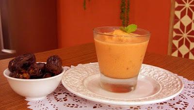 Smoothie de cenoura e abacaxi