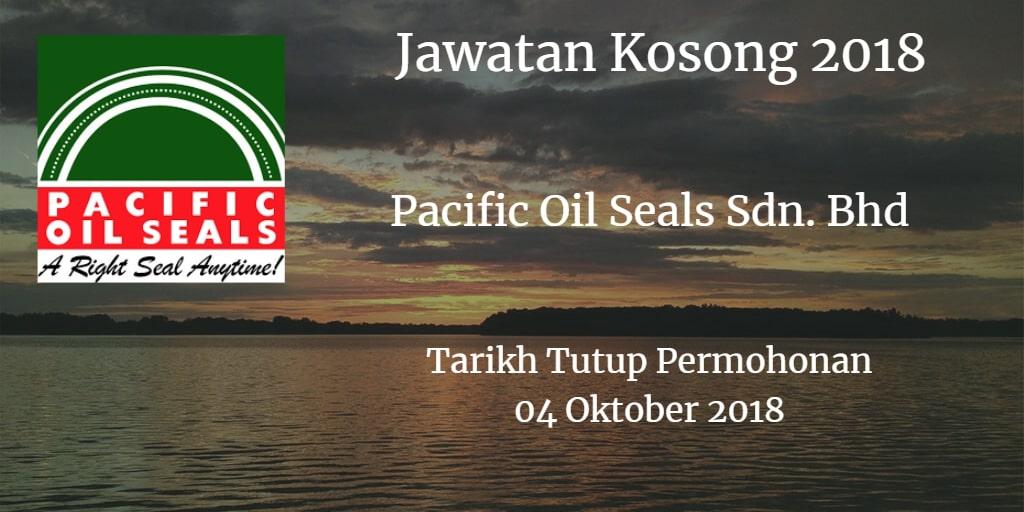 Jawatan Kosong Pacific Oil Seals Sdn. Bhd 04 Oktober 2018