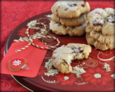 Cranberry-Mac Morsels (Macadamia Nut-Butter Cookies with Dried Cranberries & Fresh Nutmeg)
