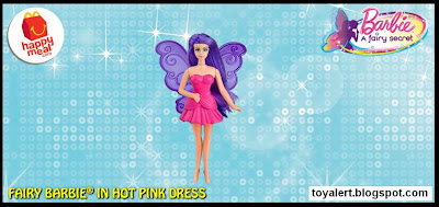 McDonalds Barbie A Fairy Secret happy meal toy 2011 Fairy Barbie in Pink Dress