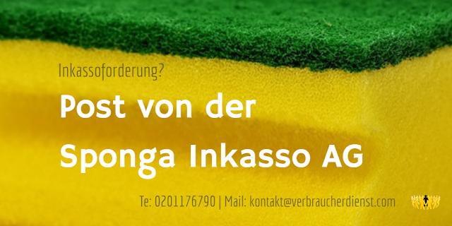 Titelbild: Post von der Sponga Inkasso AG