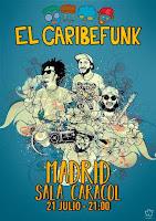 Concierto de El Caribefunk en Sala Caracol