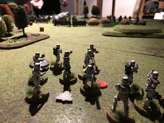 Inching forward the Stormtroopers fire on the Rebels