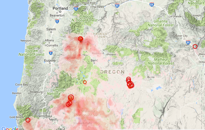 Oregon Smoke Information ICYMI Air Quality Outlook for the Weekend