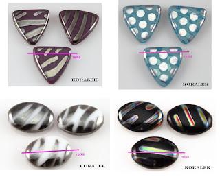 lasihelmet metallikiilto kuviolla tsekkiläiset lasihelmet - korutarvikkeet