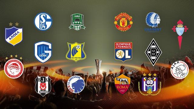 Confrontos das oitavas da Europa League são sorteados