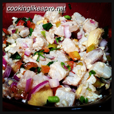 Kinilaw na Tanigue (Raw Fish recipe)