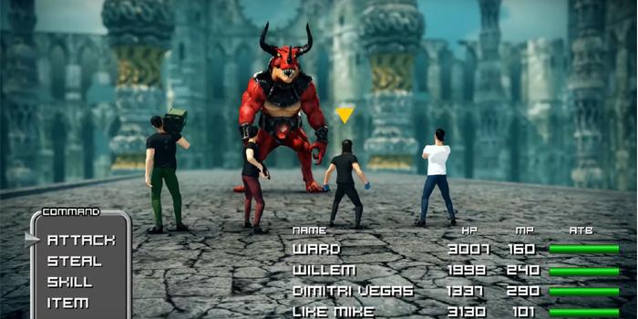 アーケードゲームのプレイ画面を模した「Arcade」のミュージックビデオ