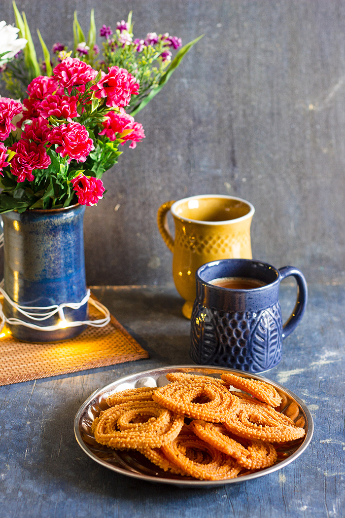 traditional Indian chakli, savory deep fried snack