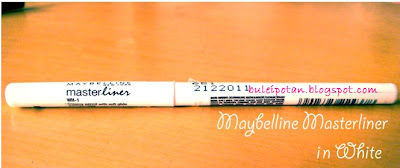 Maybelline Masterliner in White, Eyeliner