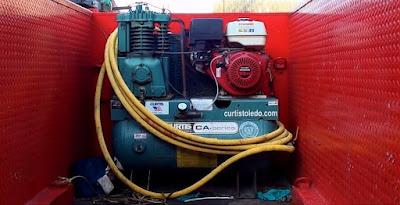 Curtis air compressor with Honda gas engine
