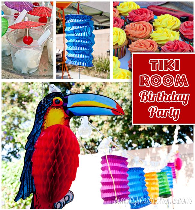 Tiki Room / Luau Birthday Party