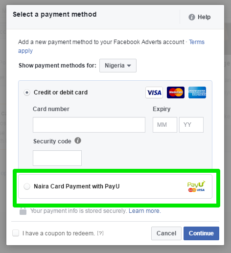 PayU Nigeria Lets You Pay For Facebook Ads In Naira With