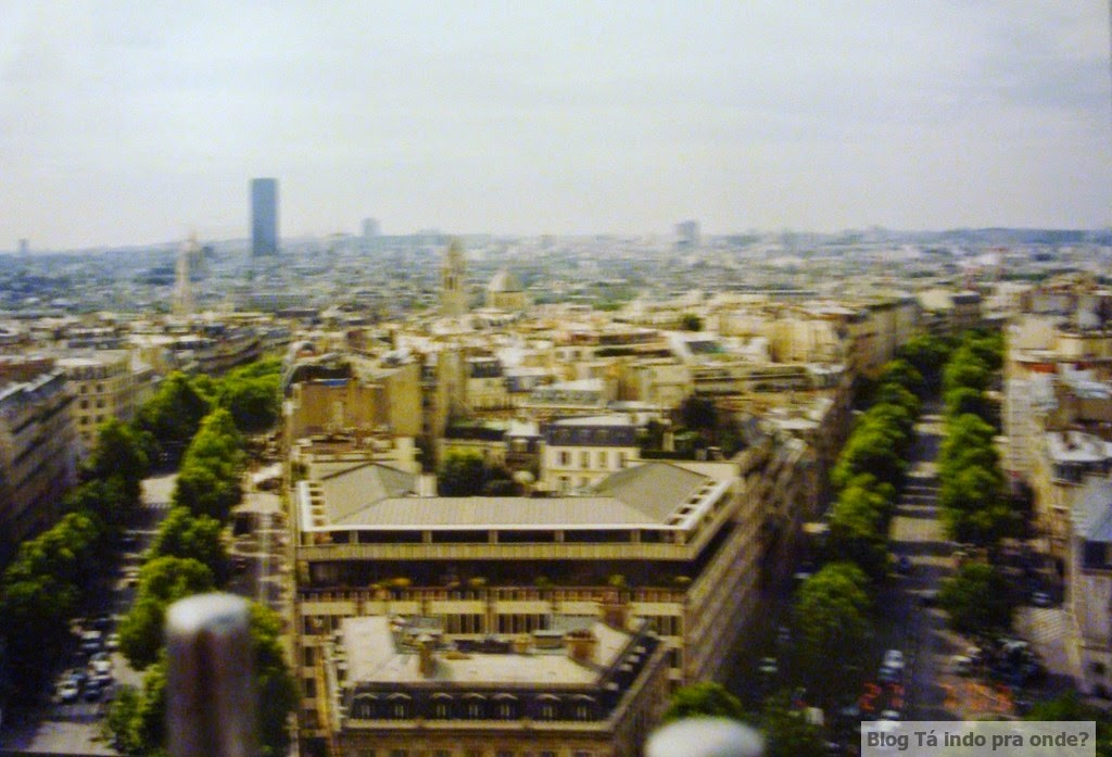 vista do Arco do Triunfo - Paris