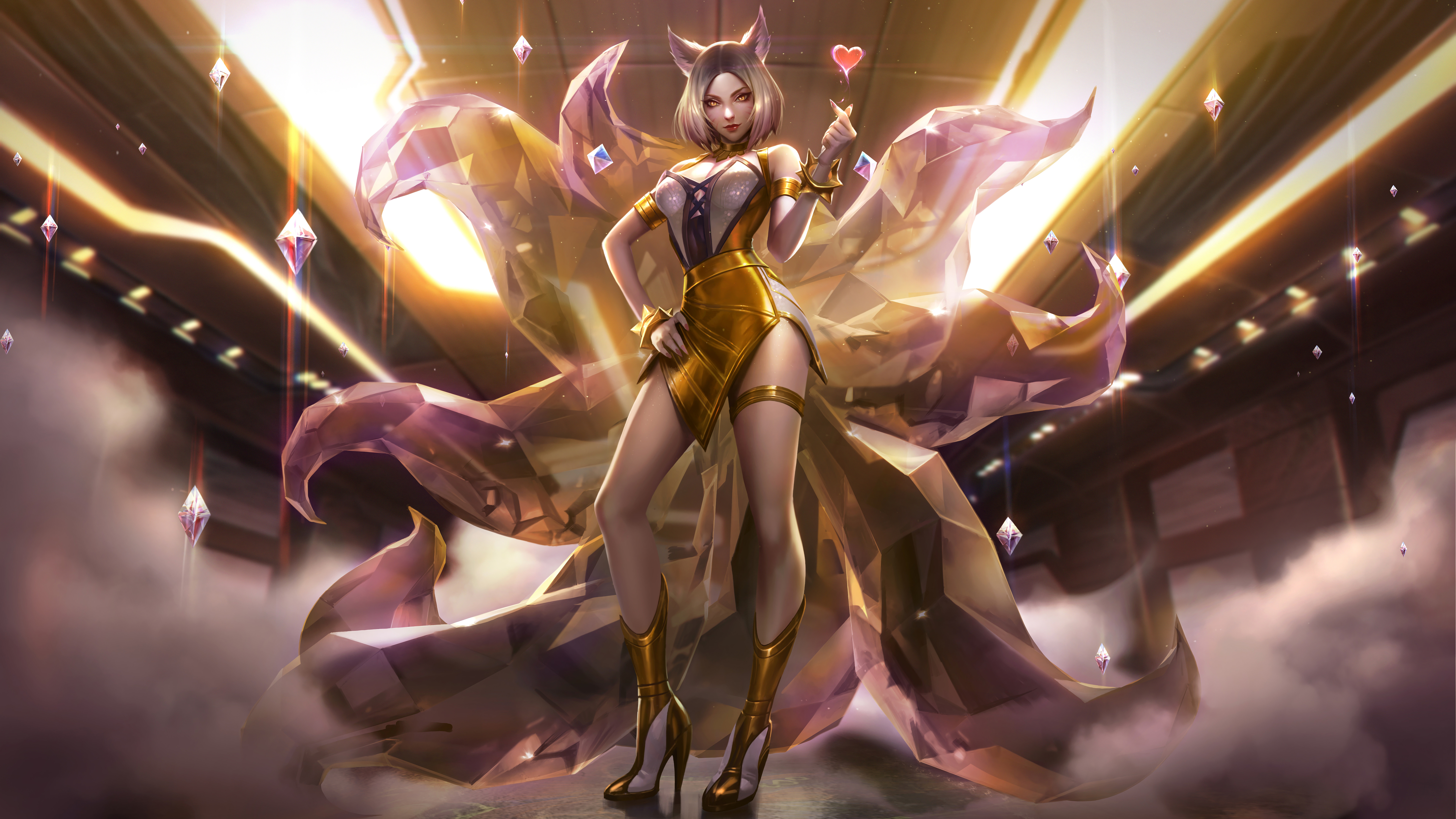 Ahri K Da Prestige Edition Splash Art Lol 8k Wallpaper 54