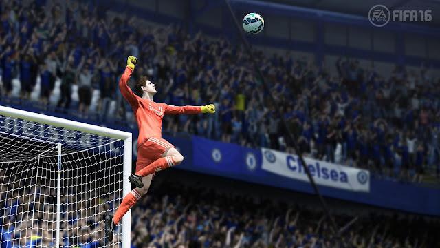 FIFA 16 portero saltando a por el balón