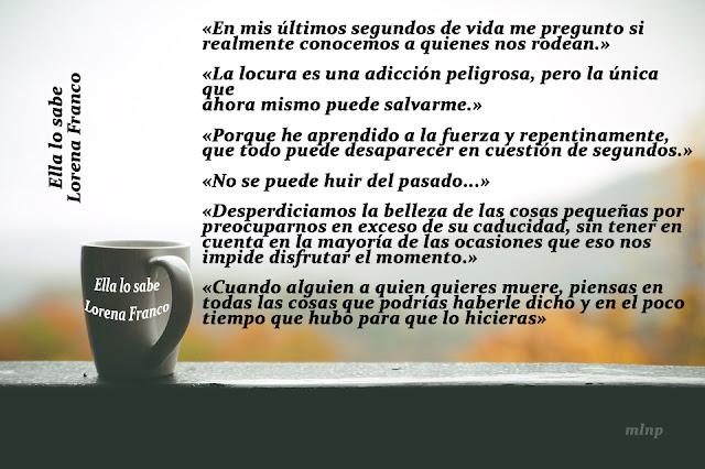Blog Negro sobre Blanco. Frases Ella lo sabe. Lorena Franco. Composición: María Loreto Navarro