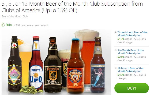 groupon deal beer of the month