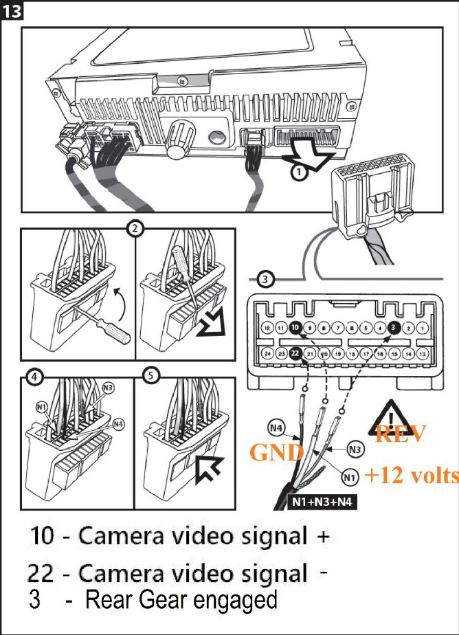 MN1] Medianav Classic Reverse Cam & Speakers Activation - Medianav