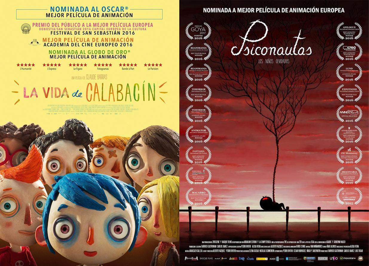 LA VIDA DE CALABACÍN Y PSICONAUTAS, LOS NIÑOS OLVIDADOS - cartel