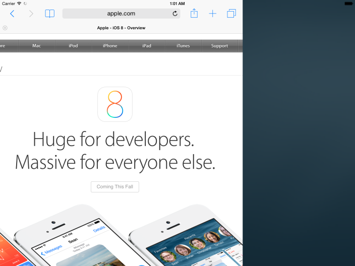 New Video Shows iOS 8′s Split-Screen Multitasking feature