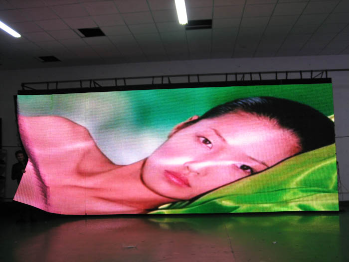 Uk Disney Projects With 20mm Led Curtain Display In Huasun Factory Each Panel Is 3 2 By 1 28m Wide 6 Panels Total Size 7 68mwide