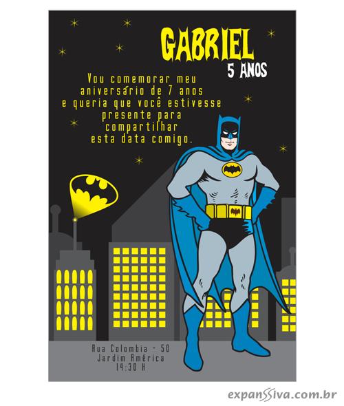 Modelos de Convites de Aniversario do Batman
