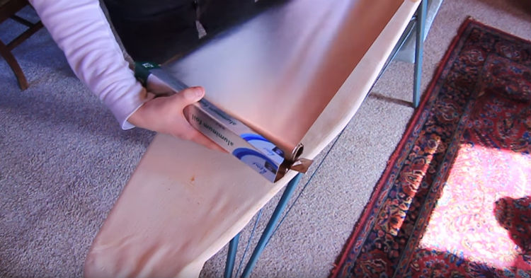I Thought It Was Weird She Covered Her Ironing Board In Aluminum Foil But Her Reason So Smart