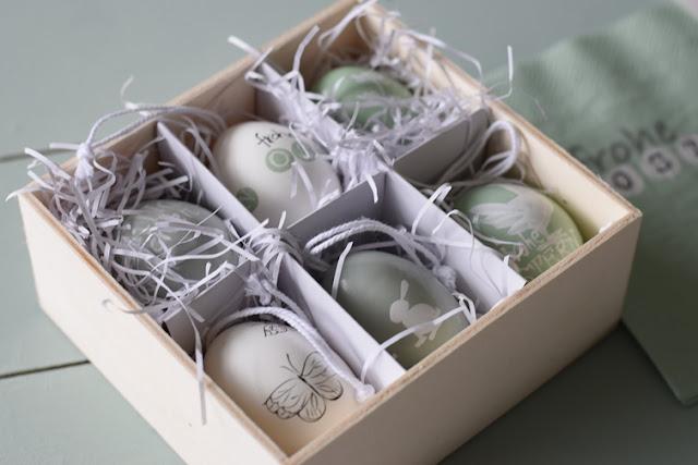 Ostereier in einer Box