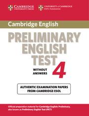 Cambridge Preliminary English Tests 4