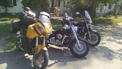 Bumblebee, Black Betty, and Hades lined up at the curb