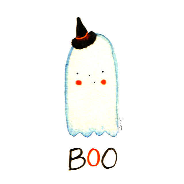 Boo Ghost Illustration by Lady Lucas