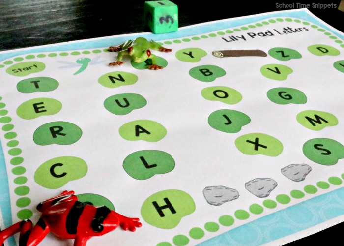 LILY PAD FROG ALPHABET GAME BOARD