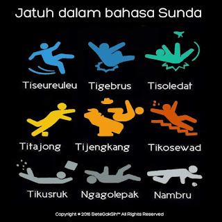 Gambar Lucu Istilah Jatuh dalam Sunda